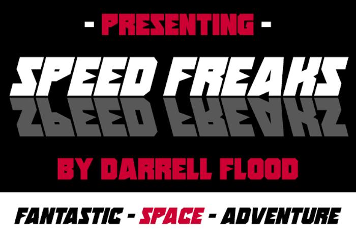 Speed Freaks Font poster