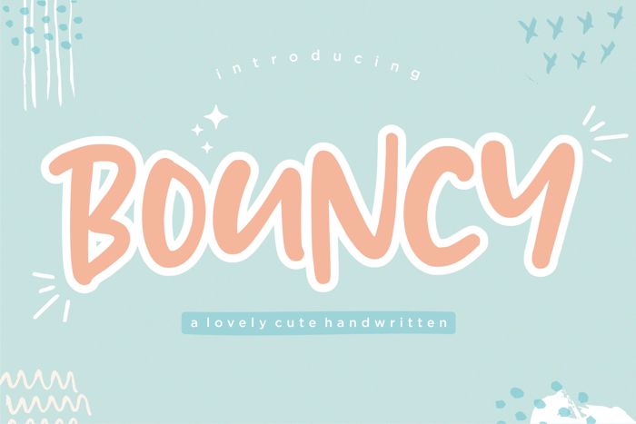 BOUNCY Font poster