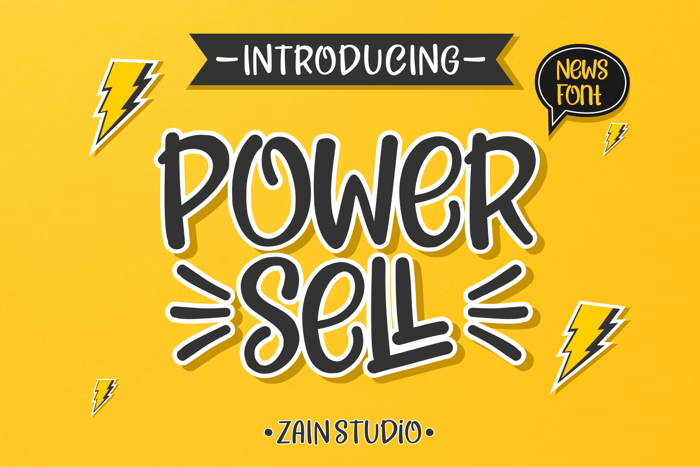 POWER SELL Font poster
