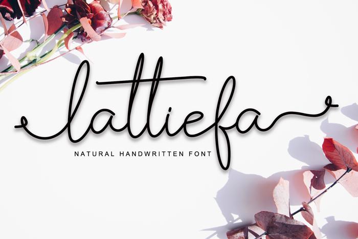 Lattiefa Font poster