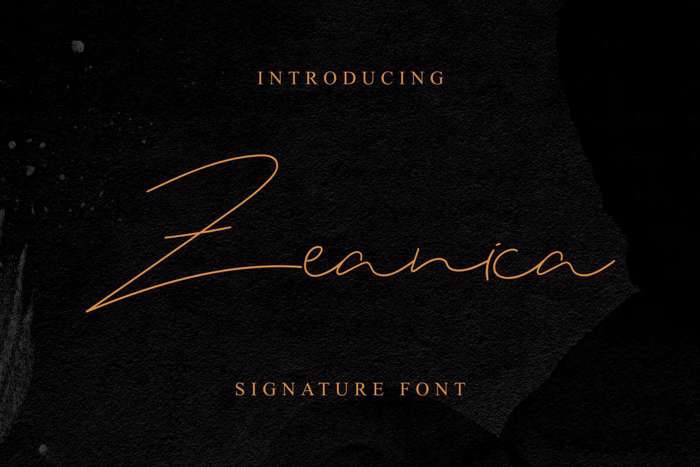 Zeanica Font poster