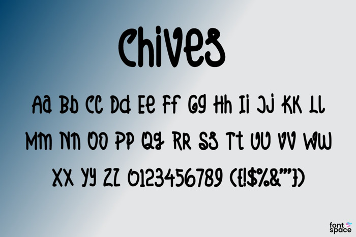 Chives Font poster