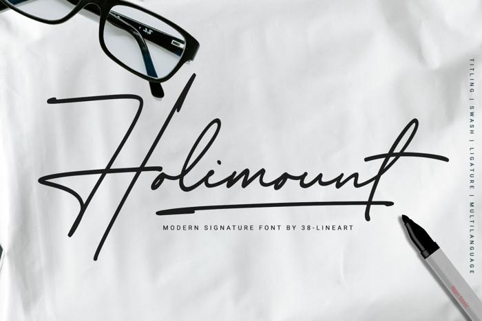 Holimount Font poster