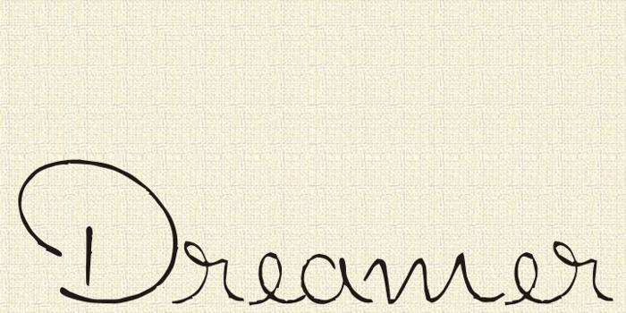 Dreamer Font poster