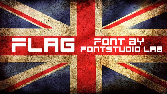 Flag Font poster