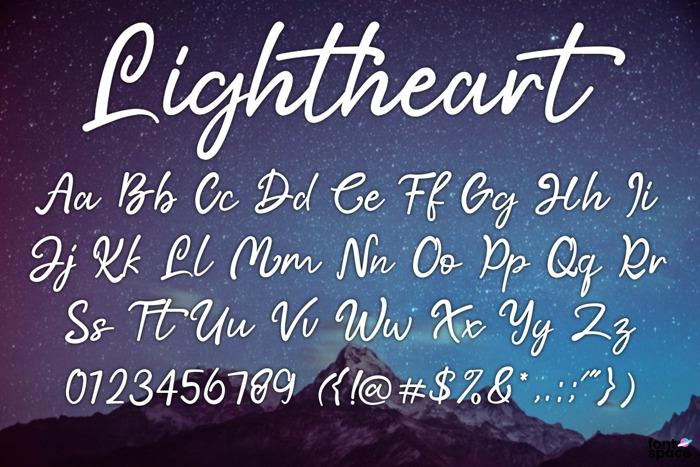 Lightheart Font poster