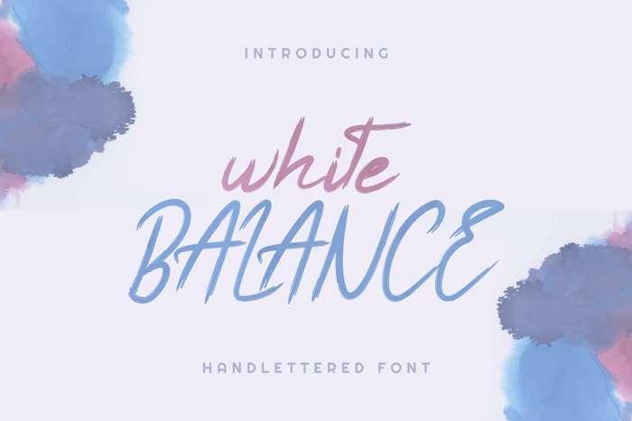 White Balance Font poster