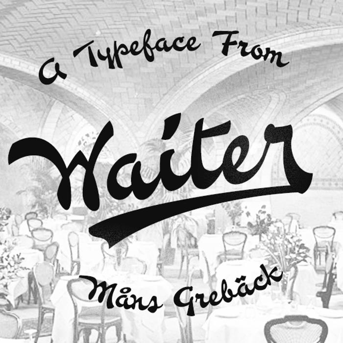Waiter Font poster