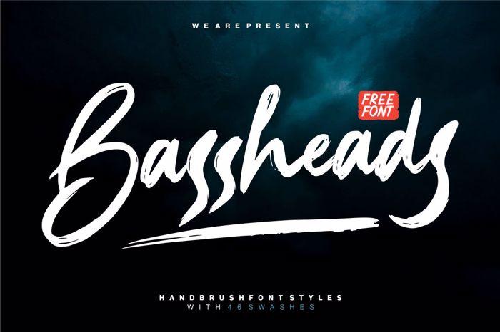 Bassheads Font poster