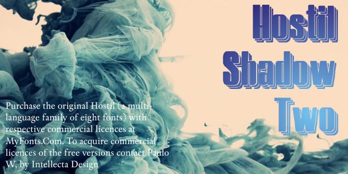 Hostil Shadow Two Font poster
