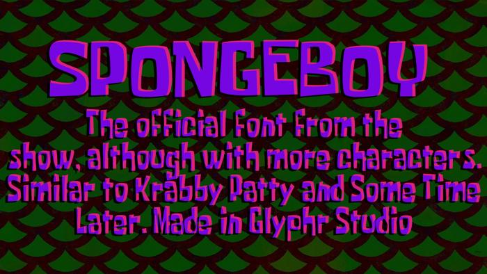 Spongeboy Font poster