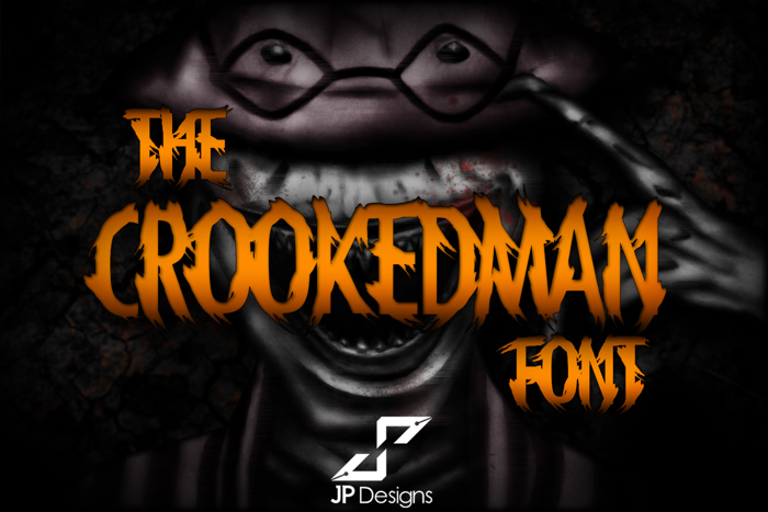 THE CROOKEDMAN Font poster