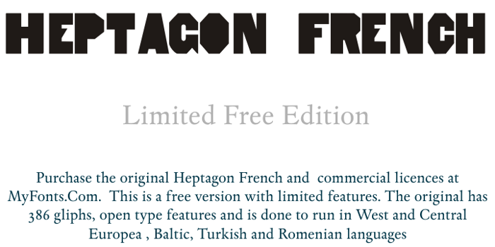 HeptagonFrench Limited Free Edi Font poster