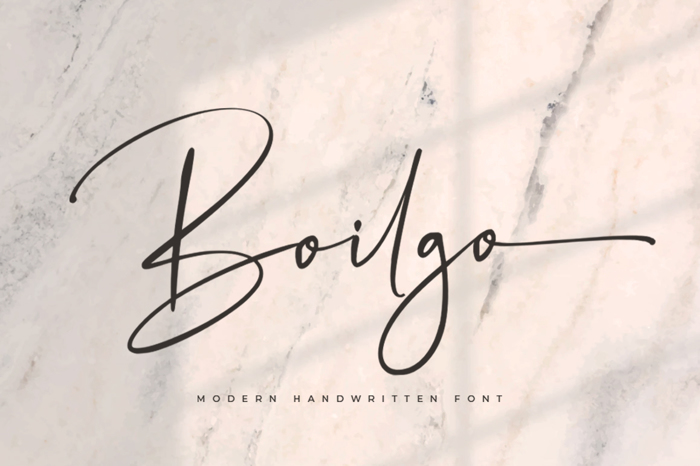 Boilgo Font poster