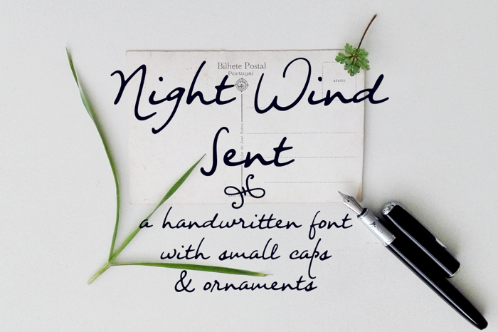 Night Wind Sent Sample Font poster