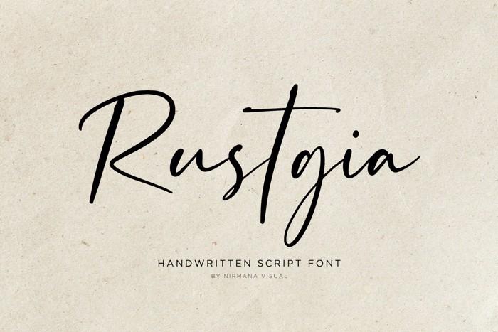 Rustgia - Font poster