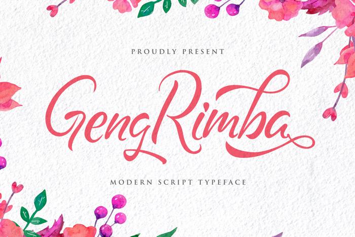 Geng Rimba Font poster