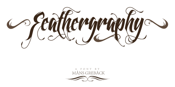 Feathergraphy Decoration Font poster