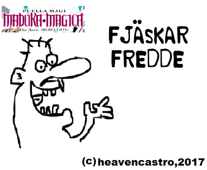 Fjaskar Fredde Font poster