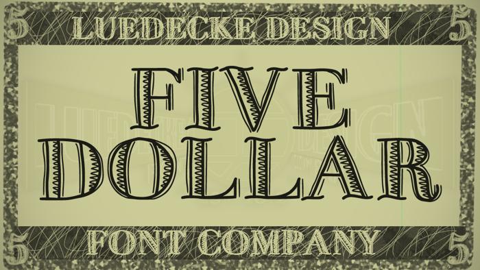 FiveDollar Font poster