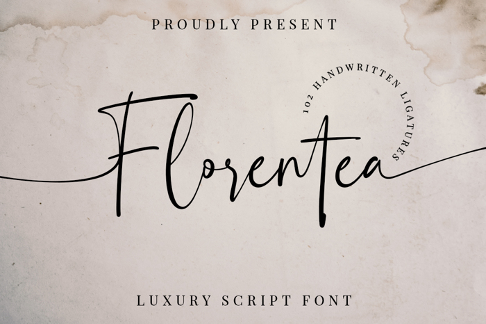 Florentea Font poster