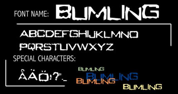 Bumling Font poster