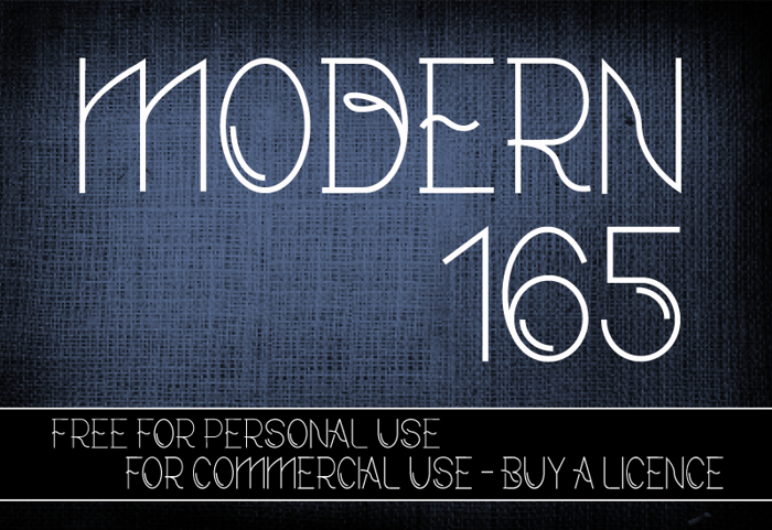 CF Modern 165 Font poster