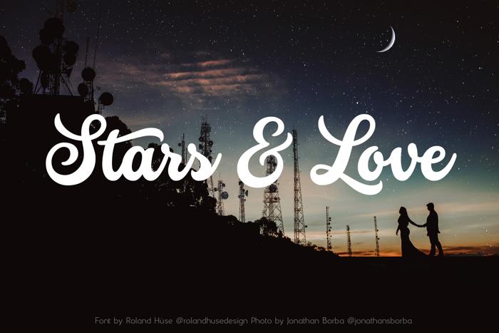 Stars & Love Font poster