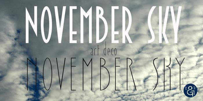 November Sky Demo Font poster