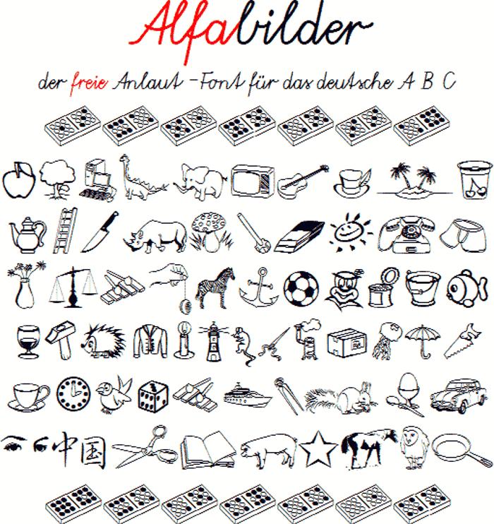 Alfabilder Font poster