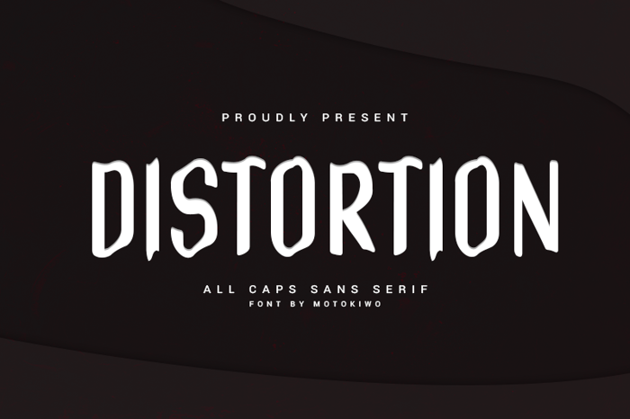 Distortion Font poster