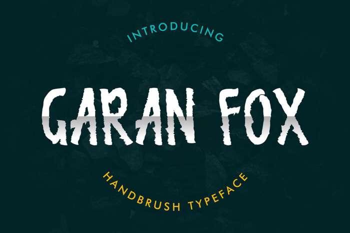 Garan Fox Font poster