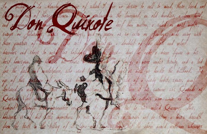 Don Quixote Font poster