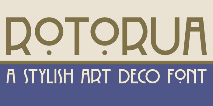 DK Rotorua Font poster