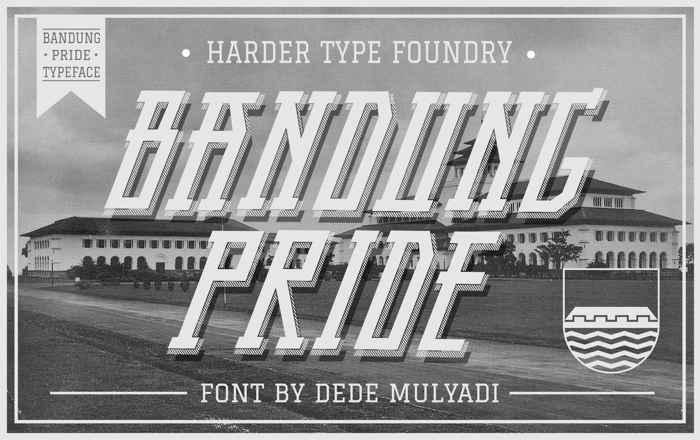 Bandung Pride Font poster