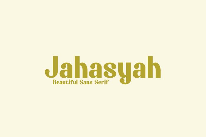 Jahasyah Font poster