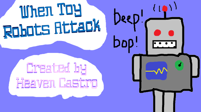 When Toy Robots Attack Font poster