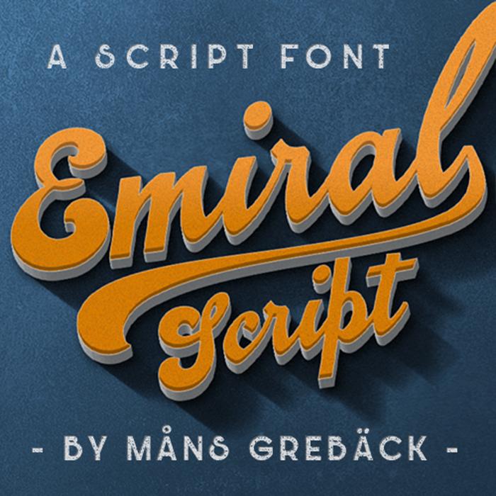 Emiral Script Font poster