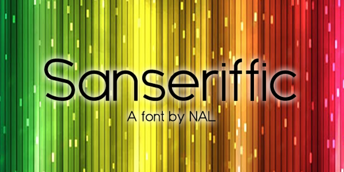 Sanseriffic Font poster