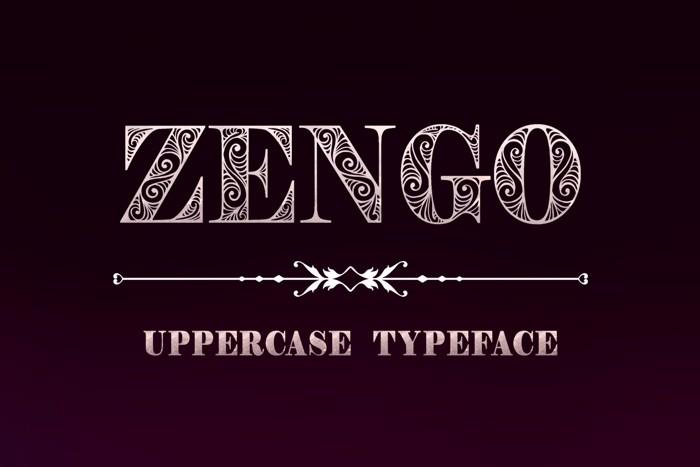 Zengo Font poster