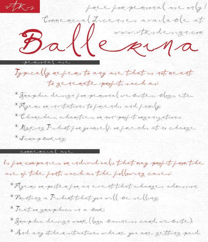 Vtks Ballerina Font poster