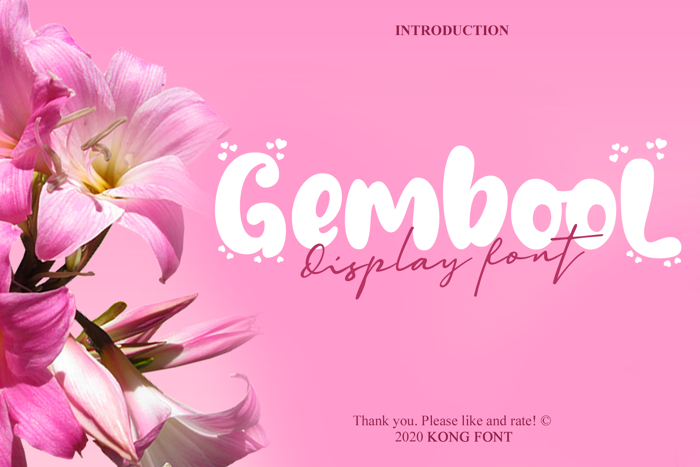Gembool Font poster