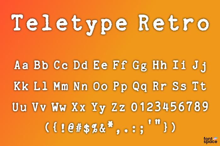 Teletype Retro Font poster