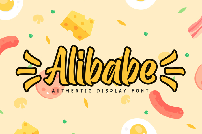 Alibabe Font poster