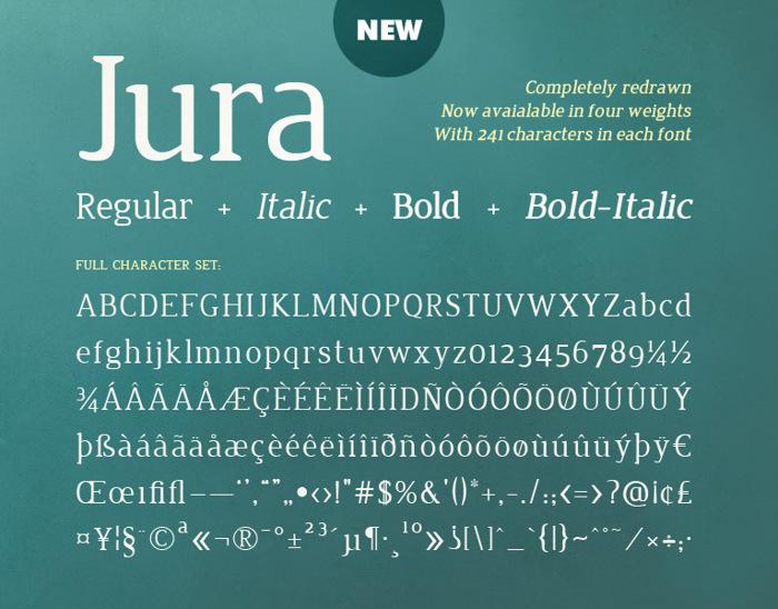 Jura Font poster