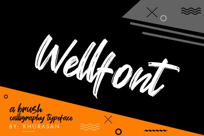 Wellfont Font poster