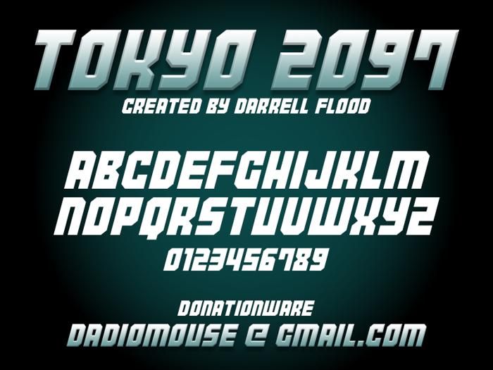 Tokyo 2097 Font poster