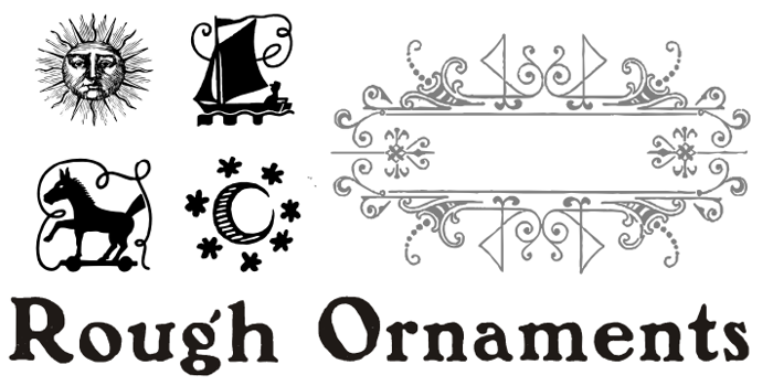 Rough Ornaments Free Font poster