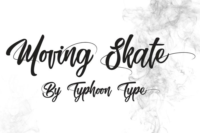 Moving Skate Font poster