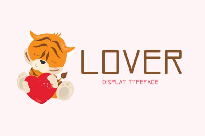 Lover Font poster